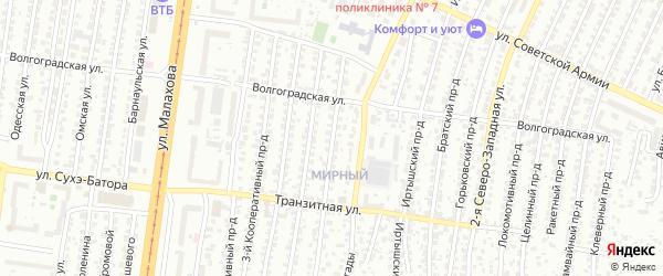 Салаирский проезд на карте Барнаула с номерами домов