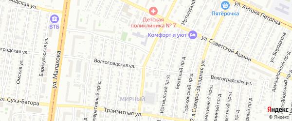 Улица 42 Краснознаменной Бригады на карте Барнаула с номерами домов