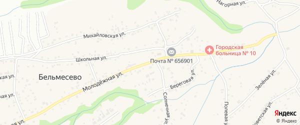 Молодежная улица на карте поселка Бельмесево с номерами домов