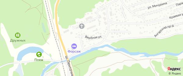 Вербная улица на карте Барнаула с номерами домов