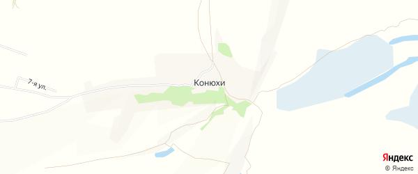 Карта поселка Конюхи города Барнаула в Алтайском крае с улицами и номерами домов