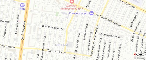 Читинский проезд на карте Барнаула с номерами домов