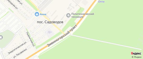 Змеиногорский тракт на карте поселка Садоводова с номерами домов