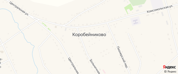 Молодежный переулок на карте села Коробейниково с номерами домов