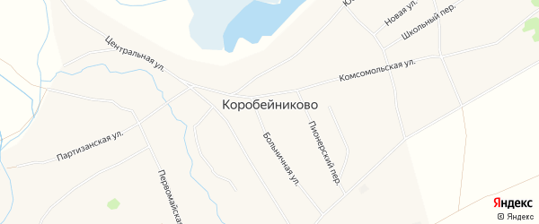 Карта села Коробейниково в Алтайском крае с улицами и номерами домов
