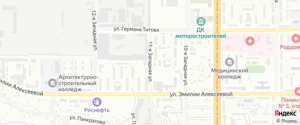 11-я улица на карте территории стд Дизеля с номерами домов