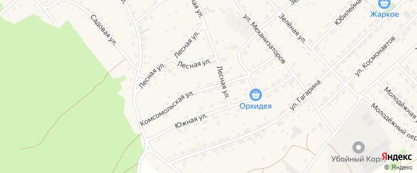 Комсомольская улица на карте села Озерков с номерами домов