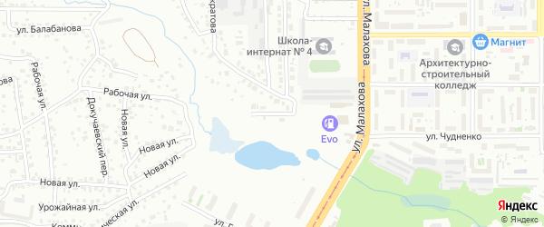 Морозный переулок на карте Барнаула с номерами домов