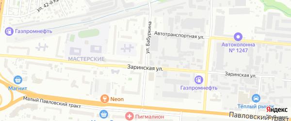 Улица Бабуркина на карте Барнаула с номерами домов
