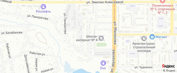Улица Ермака на карте Барнаула с номерами домов