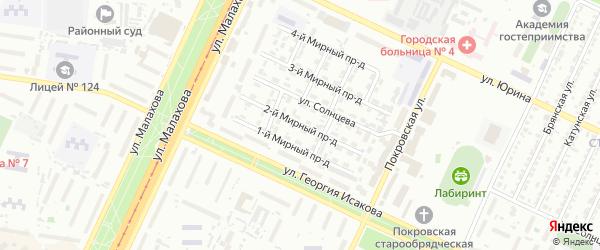 Мирный 2-й проезд на карте Барнаула с номерами домов