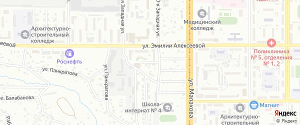 Прямой проезд на карте Барнаула с номерами домов