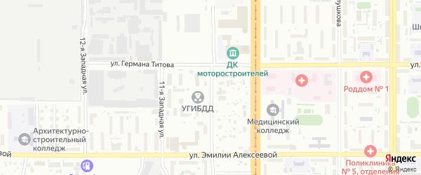 10-я улица на карте территории стд Дизеля с номерами домов