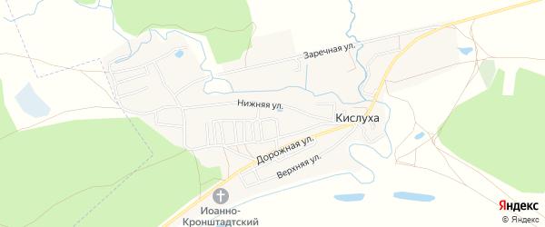 Карта поселка Кислуха в Алтайском крае с улицами и номерами домов