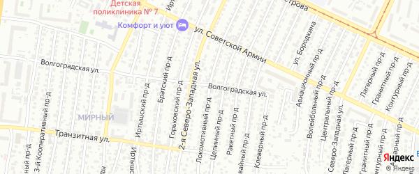 Локомотивный проезд на карте Барнаула с номерами домов