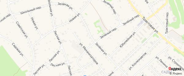 Зеленая улица на карте села Озерков с номерами домов