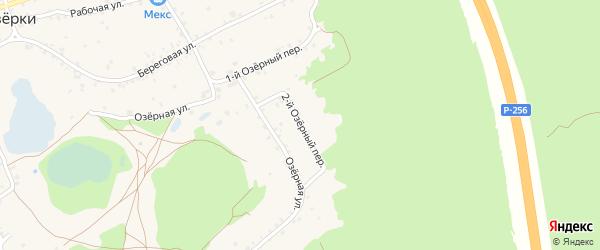 2-й Озёрный переулок на карте станции Озерки с номерами домов