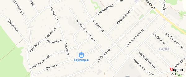 Улица Механизаторов на карте села Озерков с номерами домов