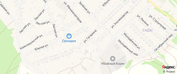 Улица Гагарина на карте села Озерков с номерами домов