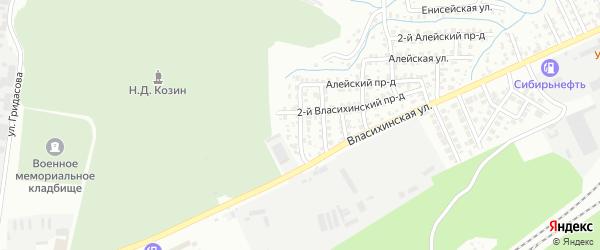 Улица 9 Выезд на карте Барнаула с номерами домов
