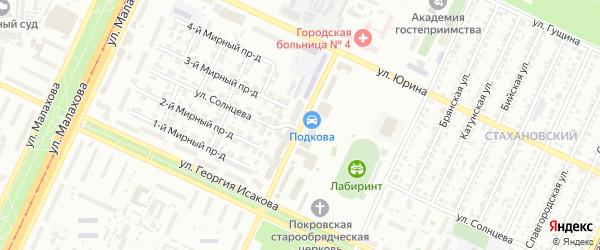 Покровская улица на карте Барнаула с номерами домов