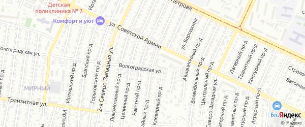 Трамвайный проезд на карте Барнаула с номерами домов