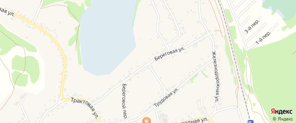 Береговая улица на карте станции Озерки с номерами домов