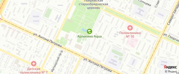 Северо-Западная 2-я улица на карте Барнаула с номерами домов