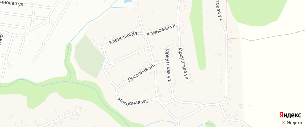 Нагорная улица на карте поселка Бельмесево с номерами домов