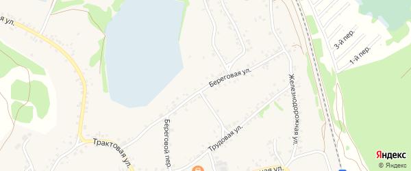 Береговая улица на карте села Озерков с номерами домов