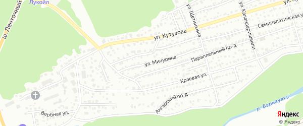 Улица Мичурина на карте Барнаула с номерами домов