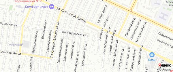 Клеверный проезд на карте Барнаула с номерами домов