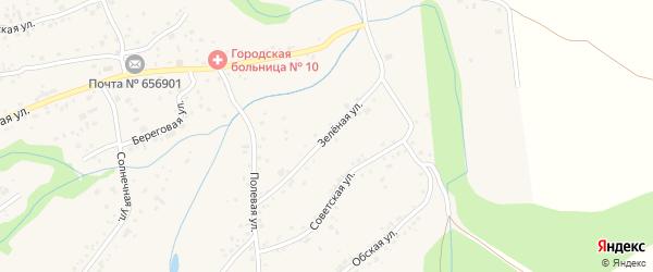 Зеленая улица на карте поселка Бельмесево с номерами домов