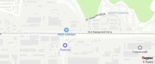 9-я улица на карте садового некоммерческого товарищества Калинки с номерами домов