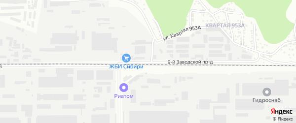 9-я улица на карте территории стд Дизеля с номерами домов