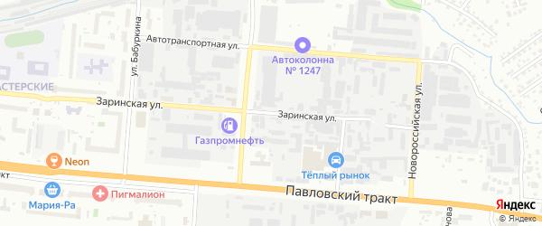 Заринская улица на карте Барнаула с номерами домов