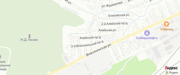 Алейский проезд на карте Барнаула с номерами домов