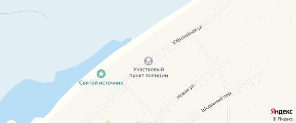 Юбилейная улица на карте Нижнеозерного села с номерами домов