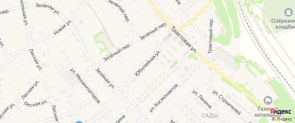 Юбилейная улица на карте села Озерков с номерами домов