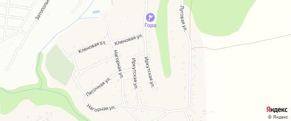 Иркутская улица на карте поселка Бельмесево с номерами домов