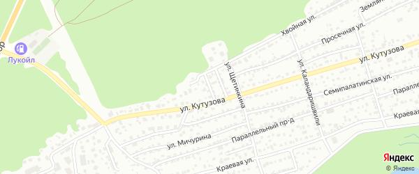 Ягодный проезд на карте Барнаула с номерами домов