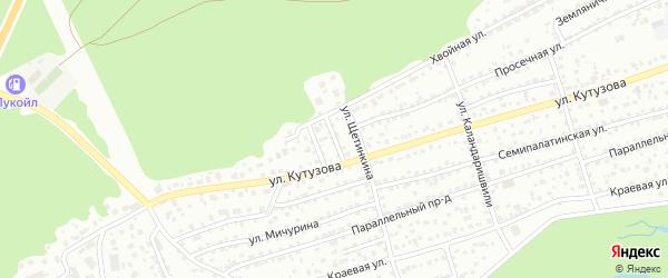 Родниковый переулок на карте Барнаула с номерами домов