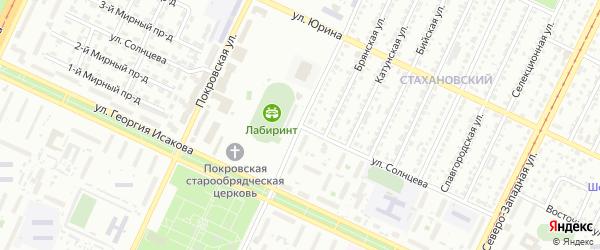Улица Солнцева на карте Барнаула с номерами домов