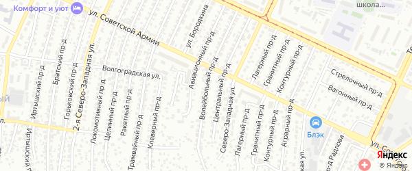Волейбольный проезд на карте Барнаула с номерами домов