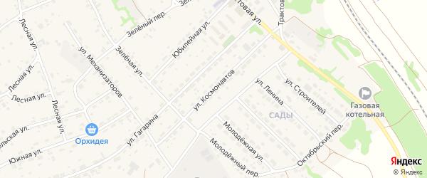 Улица Космонавтов на карте села Озерков с номерами домов