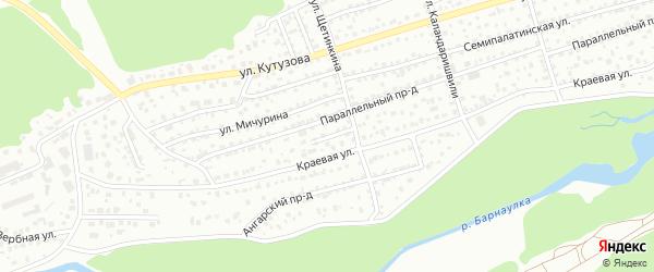 Фруктовый проезд на карте Барнаула с номерами домов