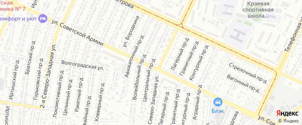 Центральный проезд на карте Барнаула с номерами домов