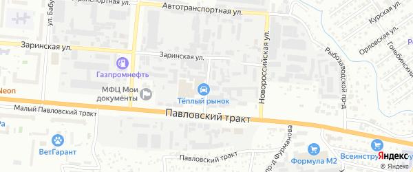 Целинная улица на карте садового некоммерческого товарищества Степного-1 с номерами домов