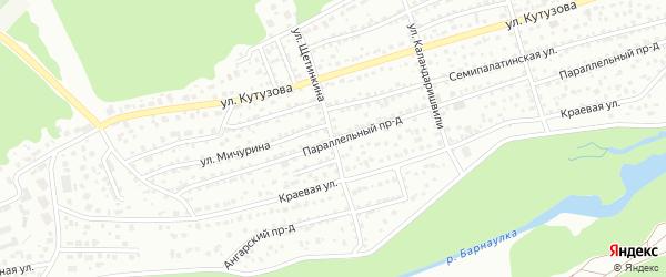 Улица Щетинкина на карте Барнаула с номерами домов
