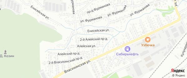 Алейский 2-й проезд на карте Барнаула с номерами домов
